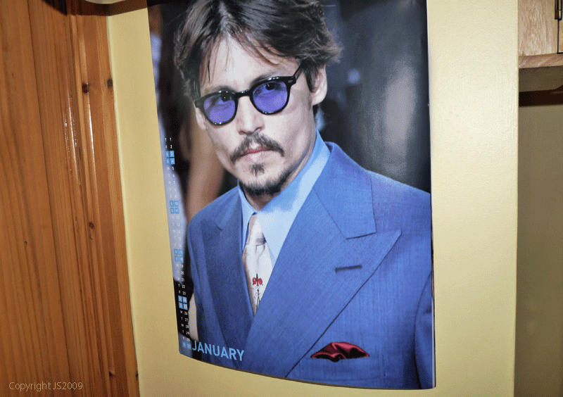 johnny depp blow sunglasses. wearing tinted glasses.